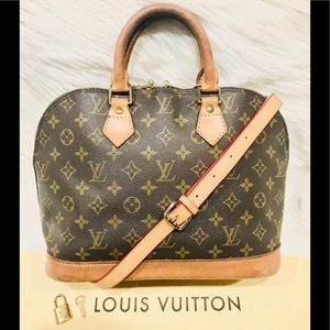 Authentic Louis Vuitton Alma Tote #1.3Q